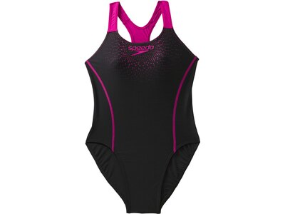 SPEEDO Damen Sw-1 Peece Sports Logo Mdlt Af Black/pink Schwarz