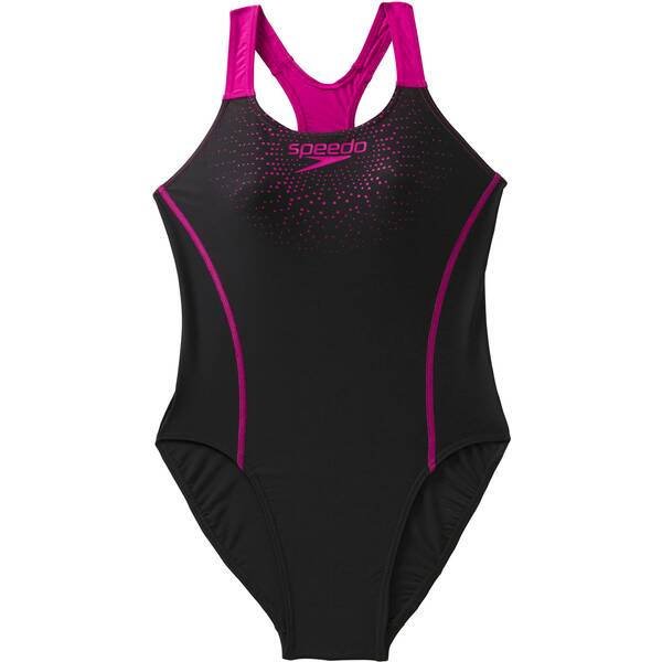 SPEEDO Damen Sw-1 Peece Sports Logo Mdlt Af Black/pink