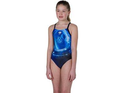 SPEEDO Damen Badeanzug PLM DIGI TSRP XBCK JF BLK/BLUE Blau