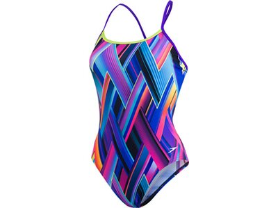 SPEEDO Damen Badeanzug SINGLE XBCK TF PURPLE/GREEN Blau