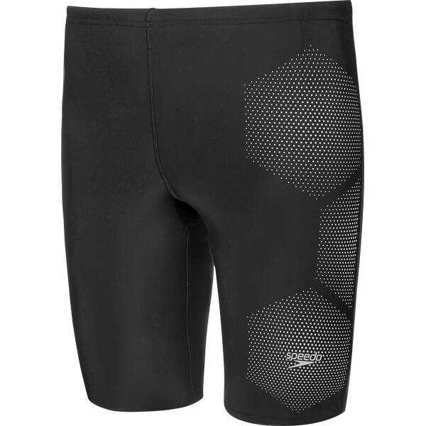 SPEEDO Herren Badebermuda TECH LOGO JAM AM BLACK/GREY