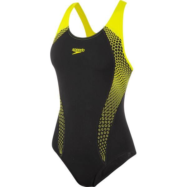 Bademode - SPEEDO Damen Schwimmanzug FIT LNBK › Schwarz  - Onlineshop Intersport