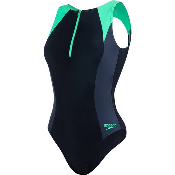 Bademode - SPEEDO Damen Schwimmanzug HYST AF BLACK GREY › Schwarz  - Onlineshop Intersport
