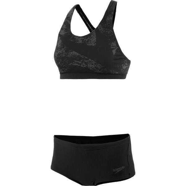 Bademode - SPEEDO Damen Bikini Boomstar Placement › Schwarz  - Onlineshop Intersport
