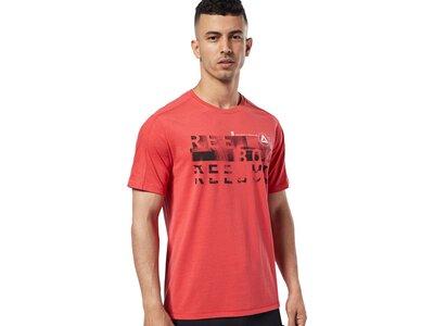 REEBOK Herren T-Shirt Speedwick Graphic Rot
