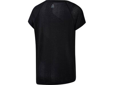 REEBOK Damen T-Shirt OS BO Schwarz