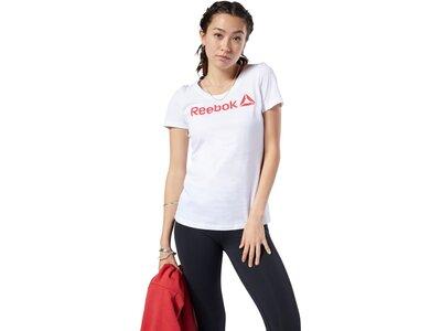 REEBOK Damen Shirt LINEAR READ SCOOP Grau