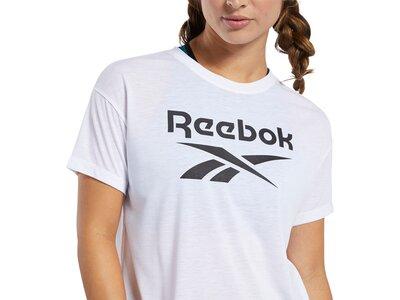 REEBOK Damen T-Shirt Workout Ready Supremium Logo Weiß