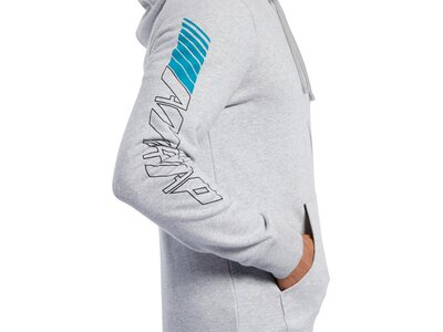 REEBOK Herren Trainingsjacke CrossFit Full Zip Graphic Silber