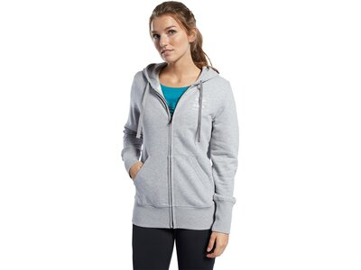 REEBOK Damen Trainingsjacke CrossFit Full Zip Silber