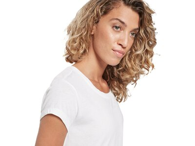 REEBOK Damen Shirt SR Graphic Tee Silber