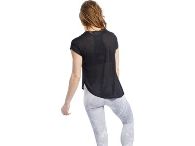 REEBOK Damen T-Shirt Workout Ready ACTIVCHILL Silber