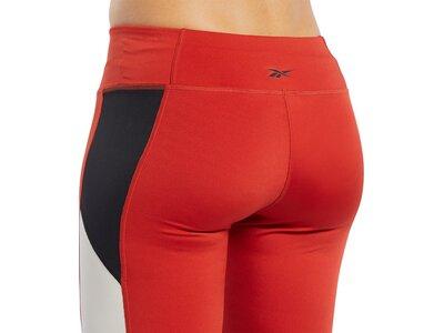REEBOK Damen Tights Workout Ready Logo Rot