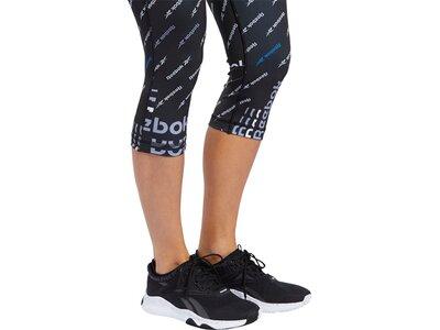 REEBOK Damen Tights Workout Ready ALLOVER PRINT Braun