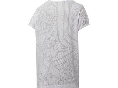 REEBOK Damen Shirt TS BURNOUT Silber
