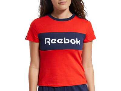 REEBOK Damen Shirt TE Linear Logo Detail Tee Schwarz