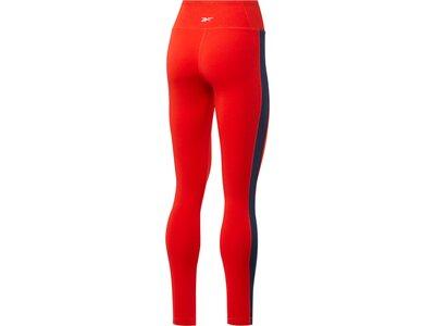 REEBOK Damen Leggings Essentials Linear Logo Rot