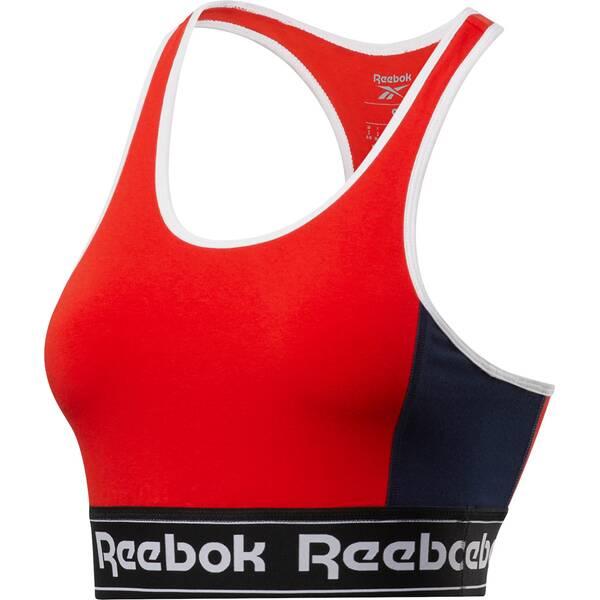 REEBOK Damen Sport-BH Essentials Linear Logo Low-Impact