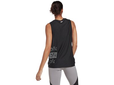 REEBOK Damen Shirt SH Gaphic Muscle Tank Schwarz