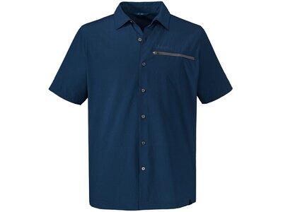 SCHÖFFEL Herren Hemd Shirt Val Thorens UV Blau