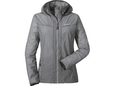 SCHÖFFEL Damen Windjacke mit Kapuze Windbreaker Jacket L Grau