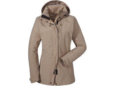 SCHÖFFEL Damen Wanderjacke / Outdoorjacke ZipIn! Jacket Fontanella Braun