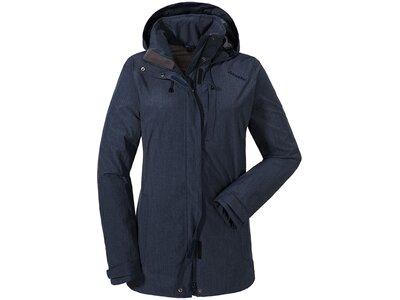 SCHÖFFEL Damen Wanderjacke / Outdoorjacke ZipIn! Jacket Fontanella Blau