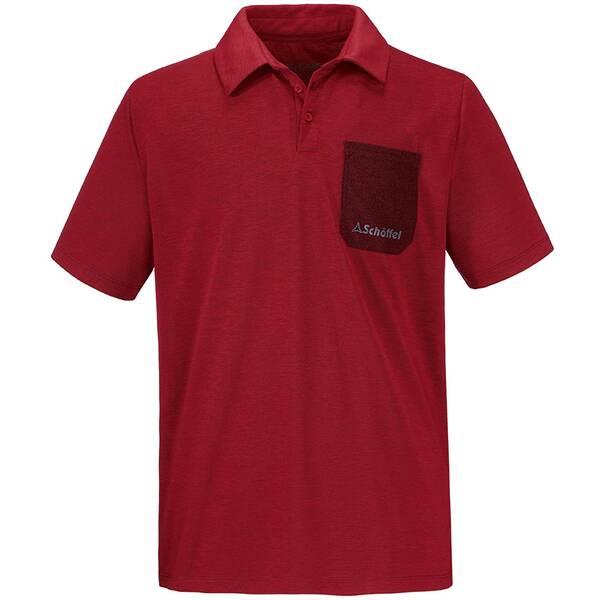 SCHÖFFEL Herren Wandershirt / Outdoor-Shirt Polo Shirt Bilbao Rot