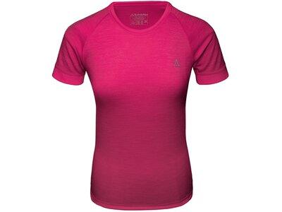 SCHÖFFEL Damen Unterhemd Merino Sport Shirt 1/2 Arm W Pink