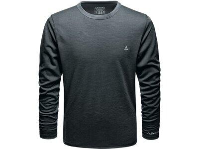 SCHÖFFEL Herren Unterhemd Merino Sport Shirt 1/1 Arm M Schwarz