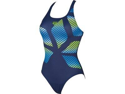 ARENA Damen Sport Badeanzug Spider Placed Blau
