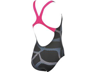 ARENA Mädchen Trainings Badeanzug Spider Schwarz