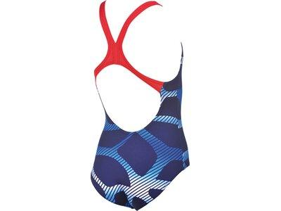 ARENA Mädchen Trainings Badeanzug Spider Blau