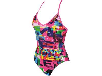 ARENA Damen Trainings Badeanzug Instinct für Athletinnen Pink
