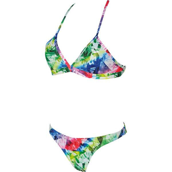 Bademode - ARENA Damen Trainings Bikini Glitch für Athletinnen › Silber  - Onlineshop Intersport