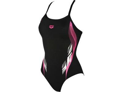 ARENA Damen Sport Badeanzug Fingerprint Schwarz
