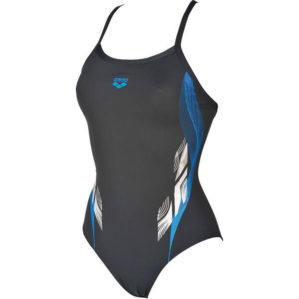 ARENA Damen Sport Badeanzug Fingerprint