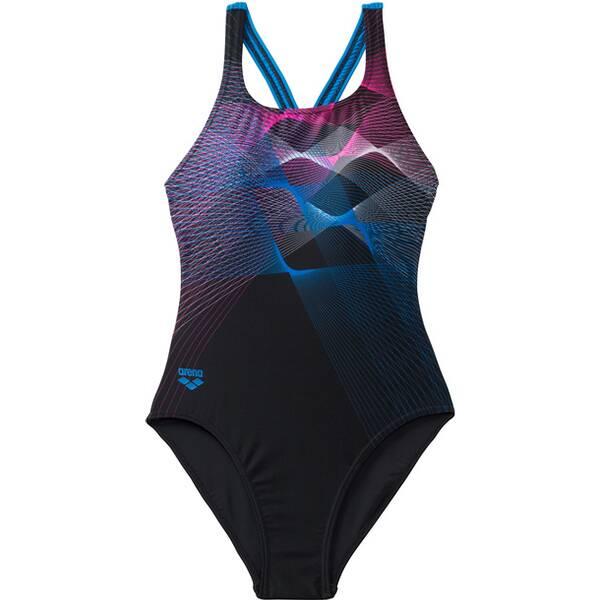 Bademode - ARENA Damen Sport Badeanzug Sprite › Grau  - Onlineshop Intersport