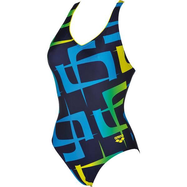 ARENA Damen Sport Badeanzug Scrawl