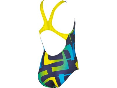 ARENA Mädchen Sport Badeanzug Scrawl Blau
