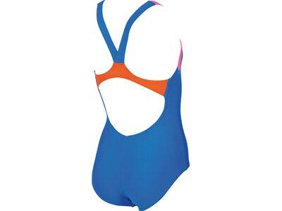 ARENA Mädchen Sport Badeanzug Slogan Blau