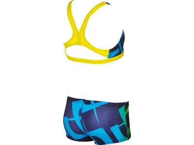 ARENA Mädchen Sport Bikini Scrawl Blau