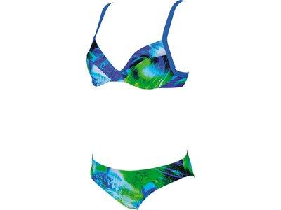 ARENA Damen Bügel Bikini Palm Blau
