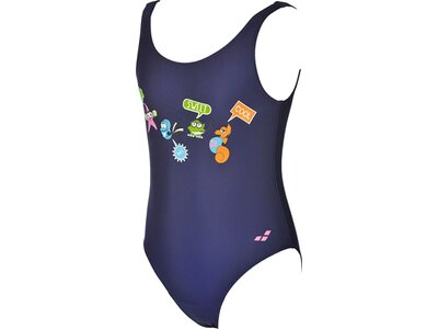 ARENA Mädchen Sonnenschutz Badeanzug Blau