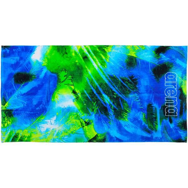 ARENA Baumwoll Handtuch groß Palm Blau