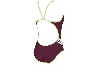 ARENA Damen Sport Badeanzug Team Stripe Rot