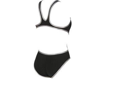 ARENA Damen Sport Badeanzug One Biglogo Schwarz
