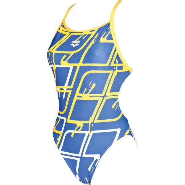 Bademode - ARENA Damen Wettkampf Badeanzug Blare Lining › Blau  - Onlineshop Intersport