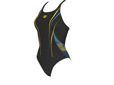 ARENA Damen Sport Badeanzug One Poseidon Schwarz
