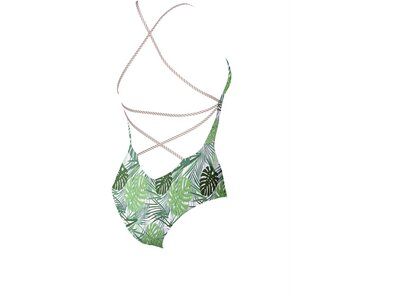 ARENA Damen Badeanzug Twist Back Silber